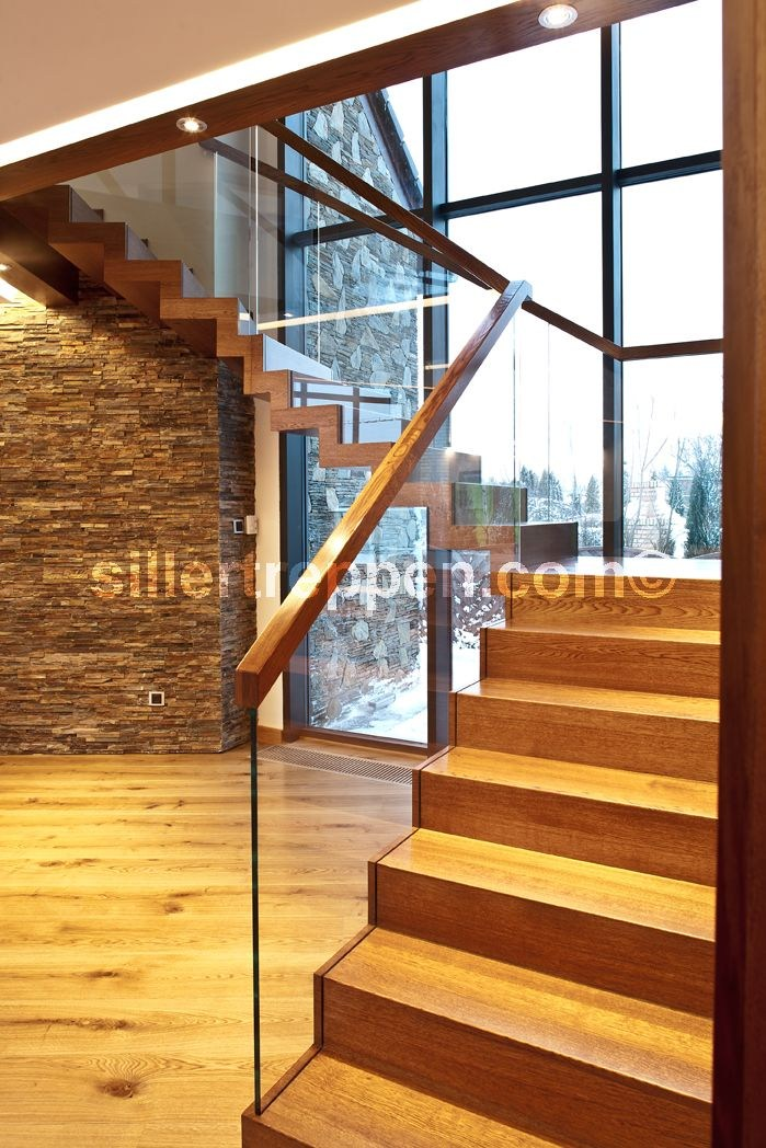 zig zag design offene treppe aus holz und glas by siller treppen. Black Bedroom Furniture Sets. Home Design Ideas