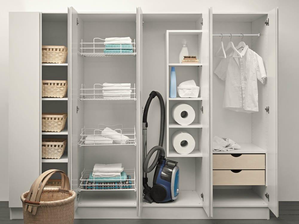 Mueble para lavandería alto lacado IDROBOX  Mueble para lavandería ...