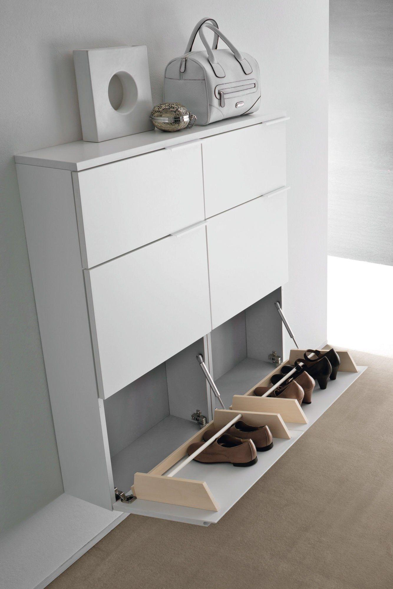 LOGIKA | Wall mounted shoe cabinet By Birex