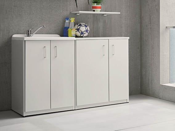 Braccio di ferro mobile lavanderia con lavatoio by birex - Mobili lavanderia da esterno ...