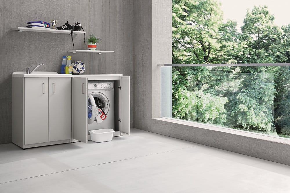 Cucina Con Lavatrice : Braccio di ferro mobile lavanderia con lavatoio by birex