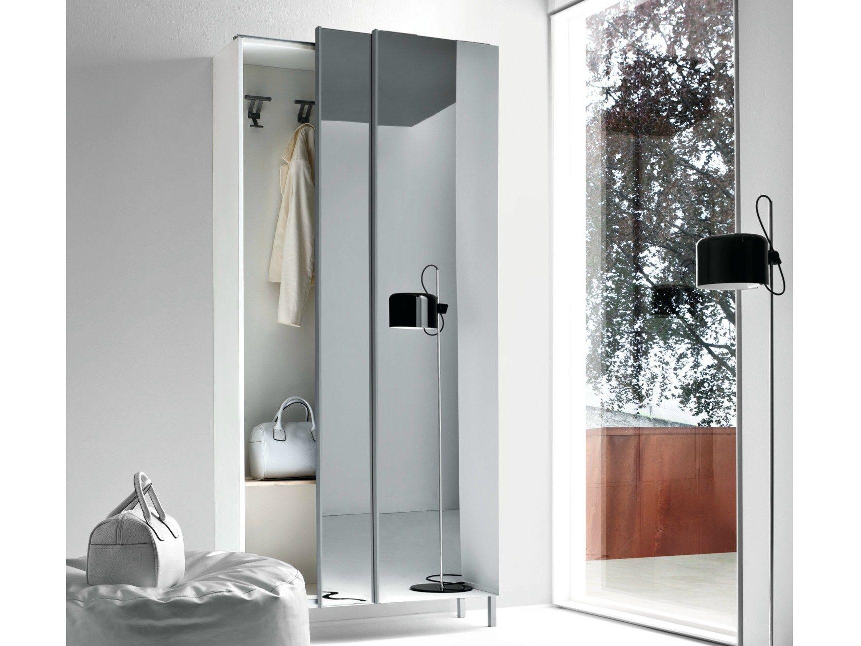 Slim Mirrored Wardrobe By Birex