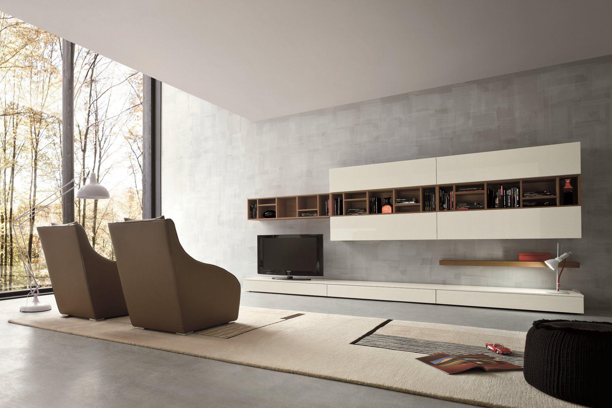 Wohnwand italian design  Anbau- TV- Wohnwand SLIM 16 By Dall'Agnese Design Imago Design