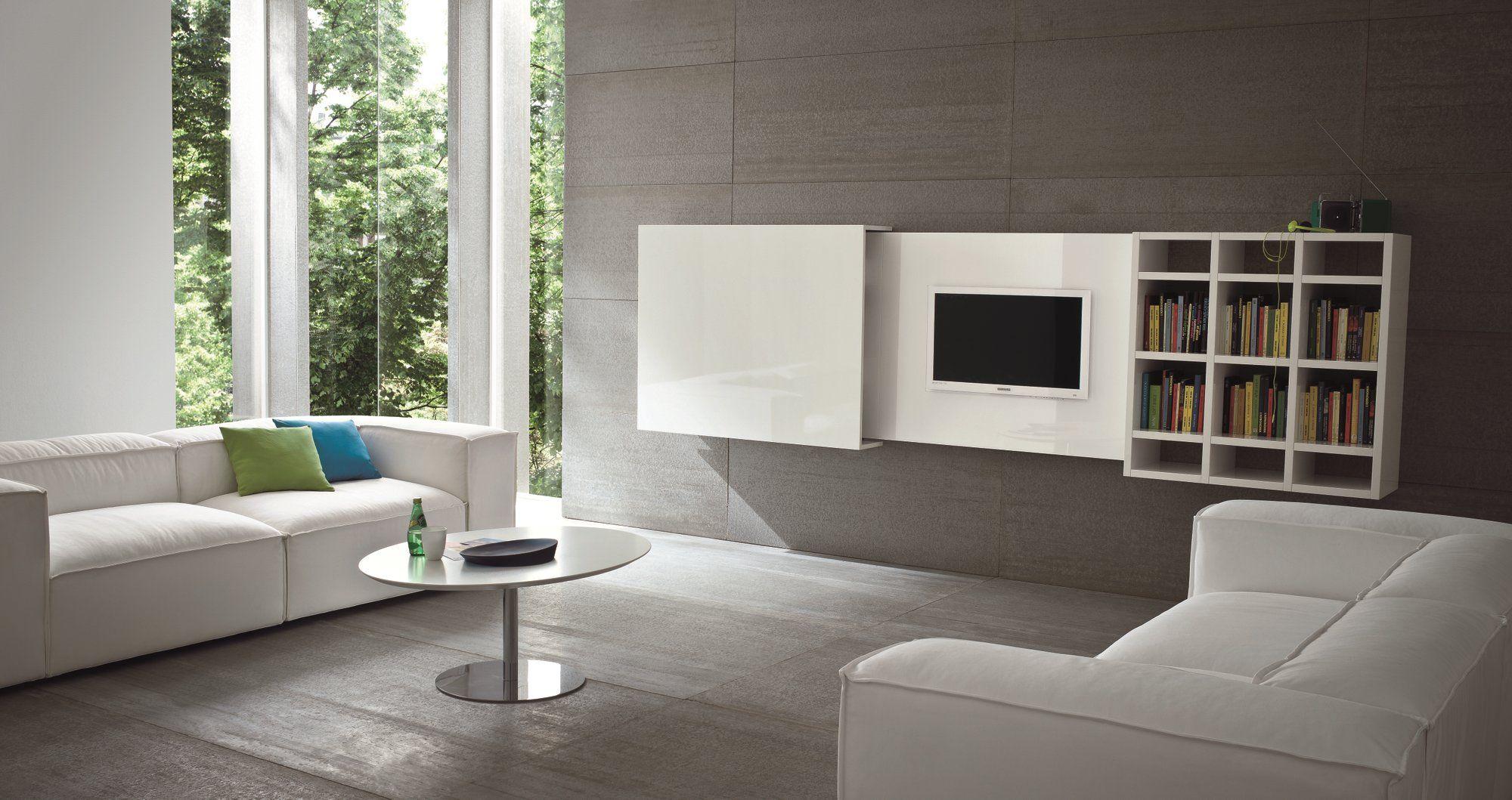 Mobile TV sospeso a scomparsa SLIM 10 by Dall'Agnese design Imago ...