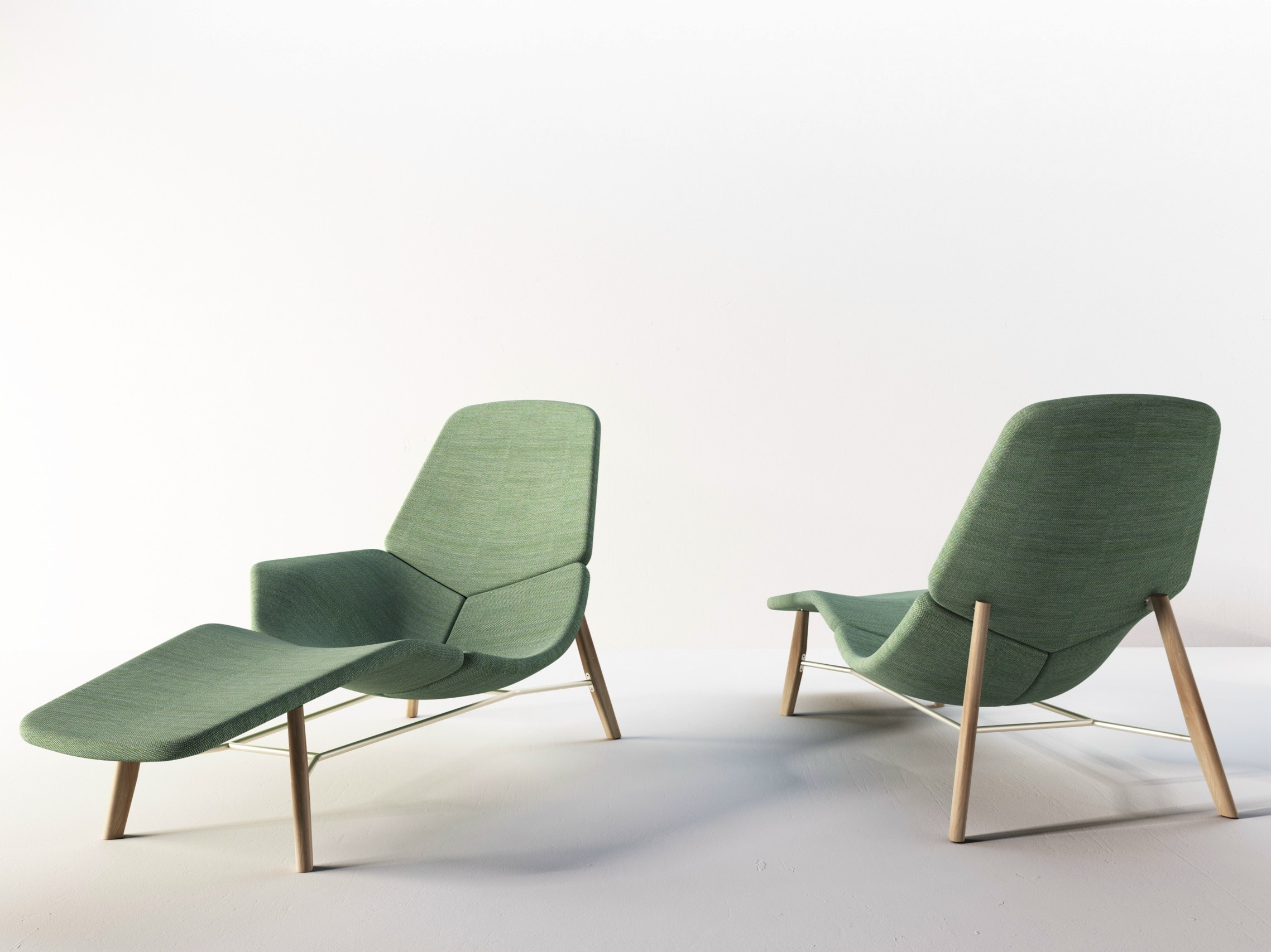 Fabric lounge chair ATOLL By Tacchini design Patrick Norguet