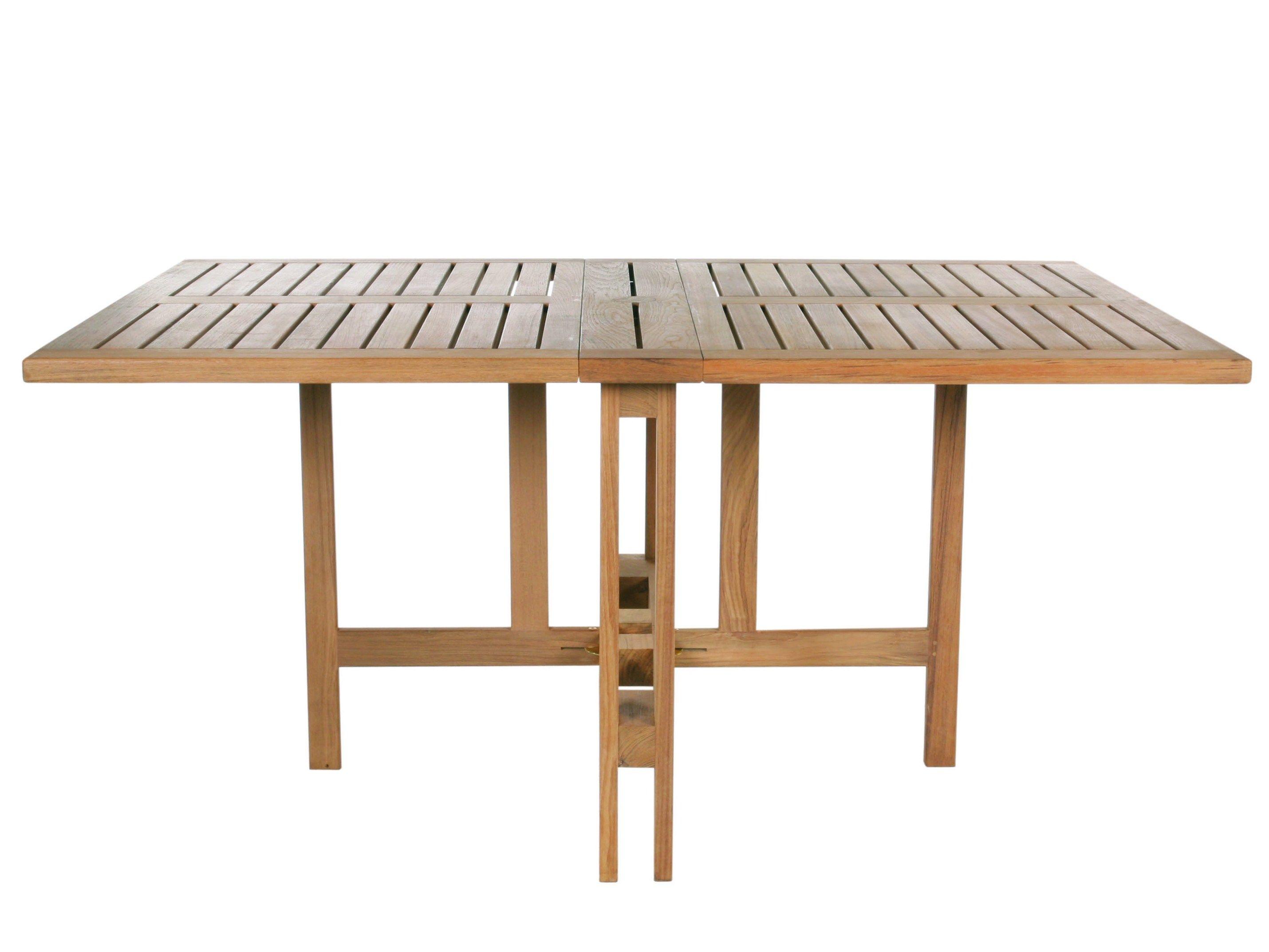 Tavolo da giardino pieghevole rettangolare in teak GATELEG by Tectona