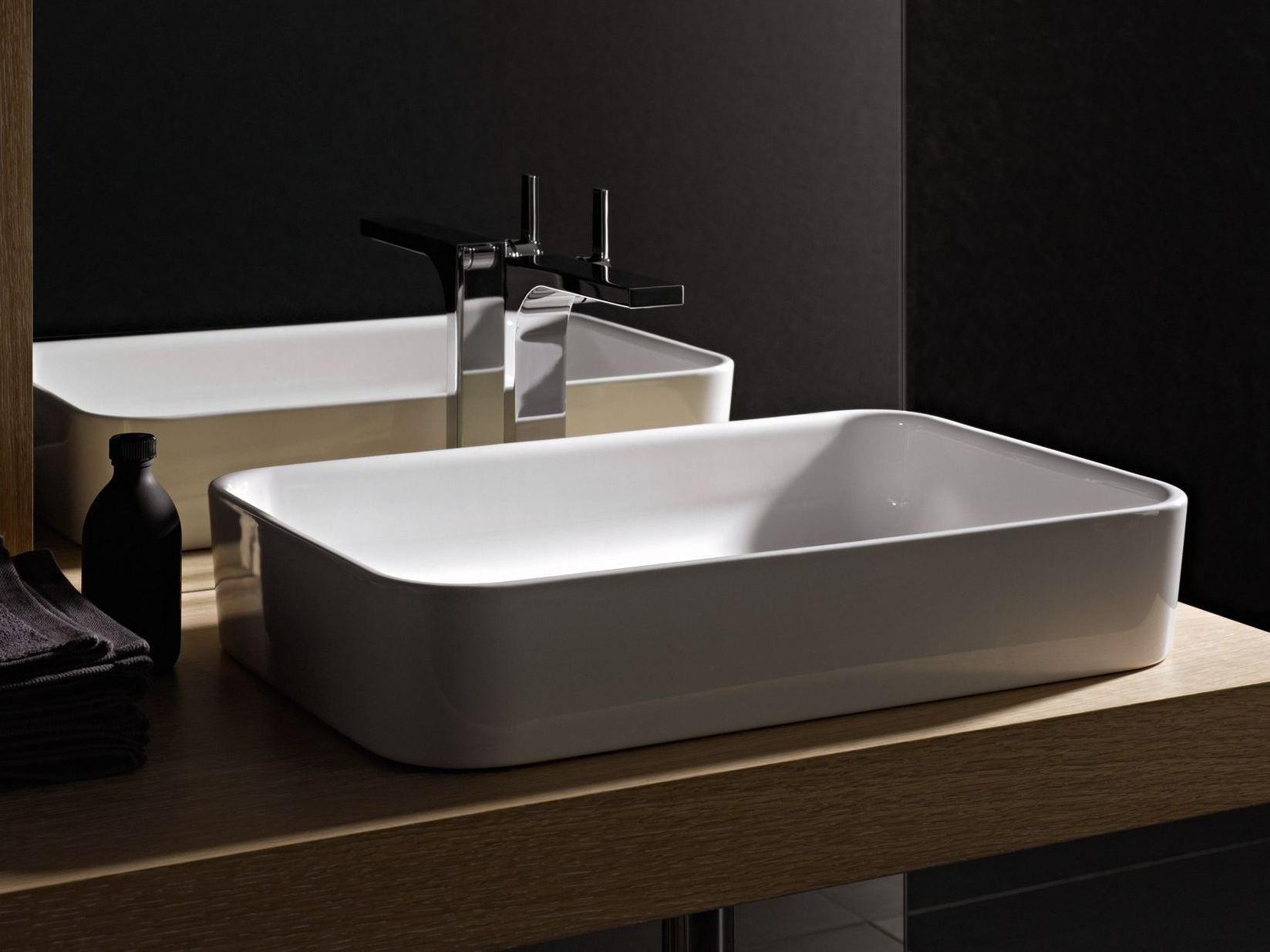 Betteart lavabo sobre encimera by bette dise o tesseraux - Lavabos rectangulares sobre encimera ...