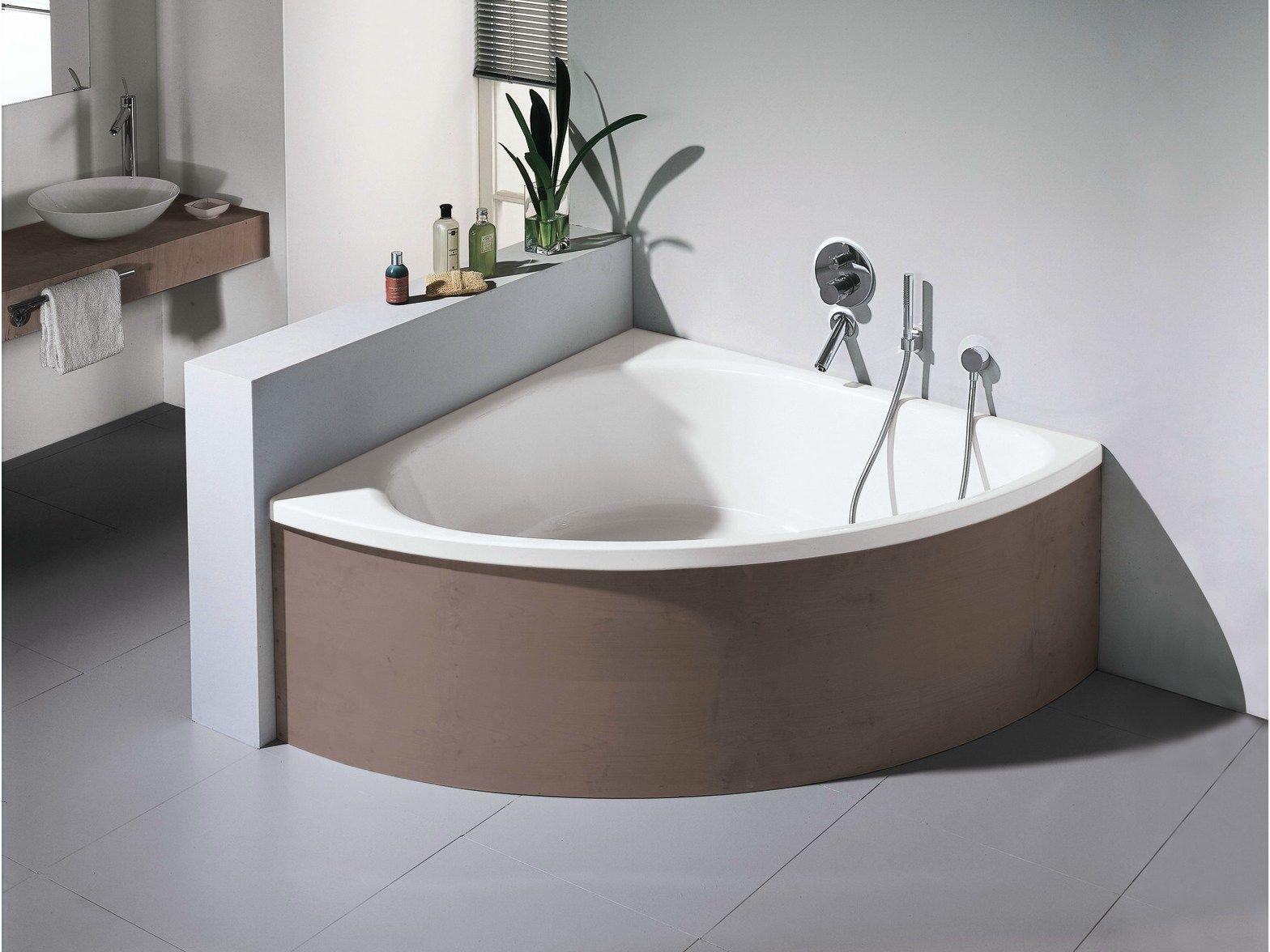 Perfect vasca da bagno angolare in acciaio smaltato betteart v by bette design tesseraux partner - Misure vasca da bagno piccola ...
