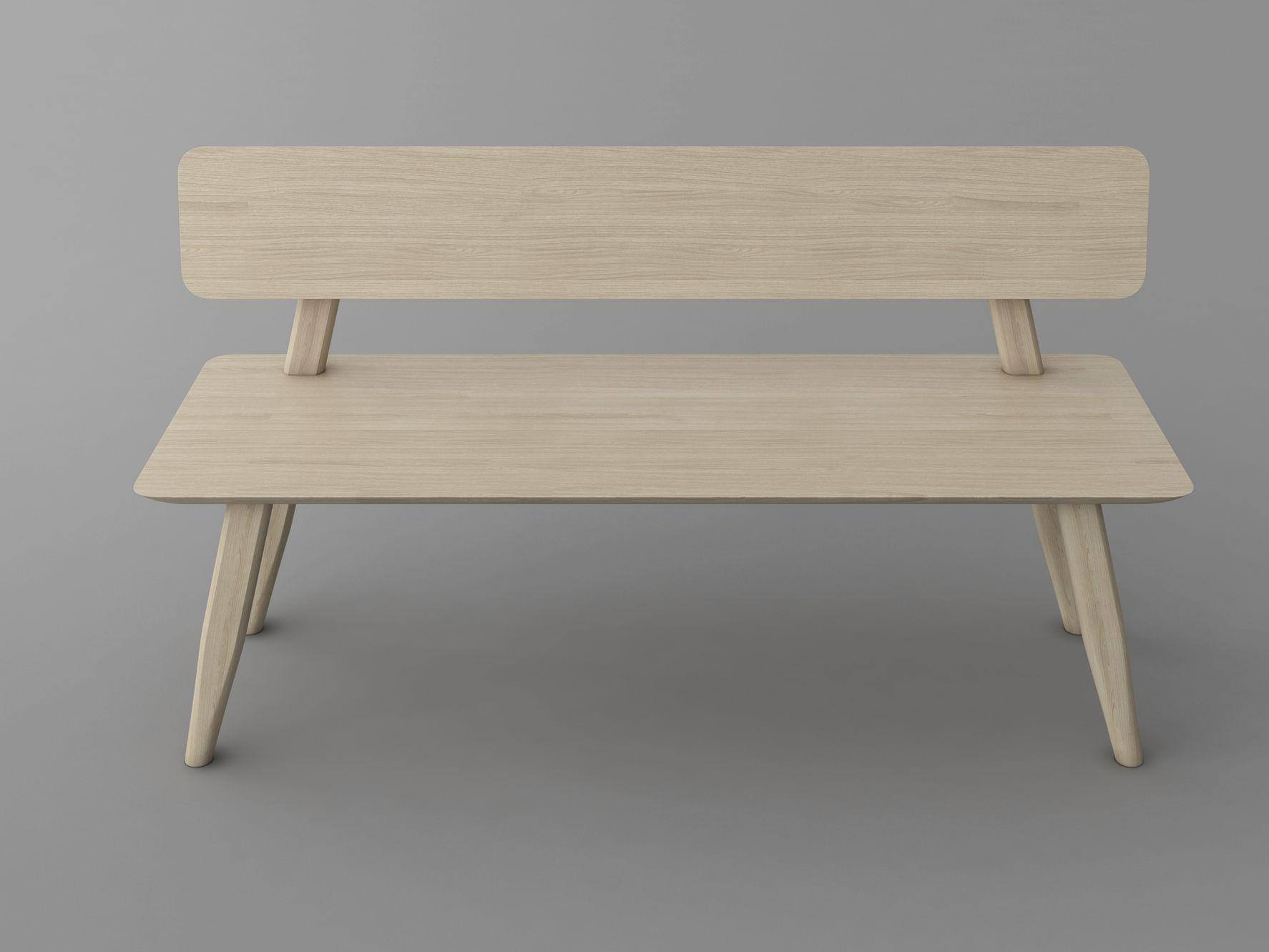 Aetas Bench With Back By Vitamin Design Design Gg Designart