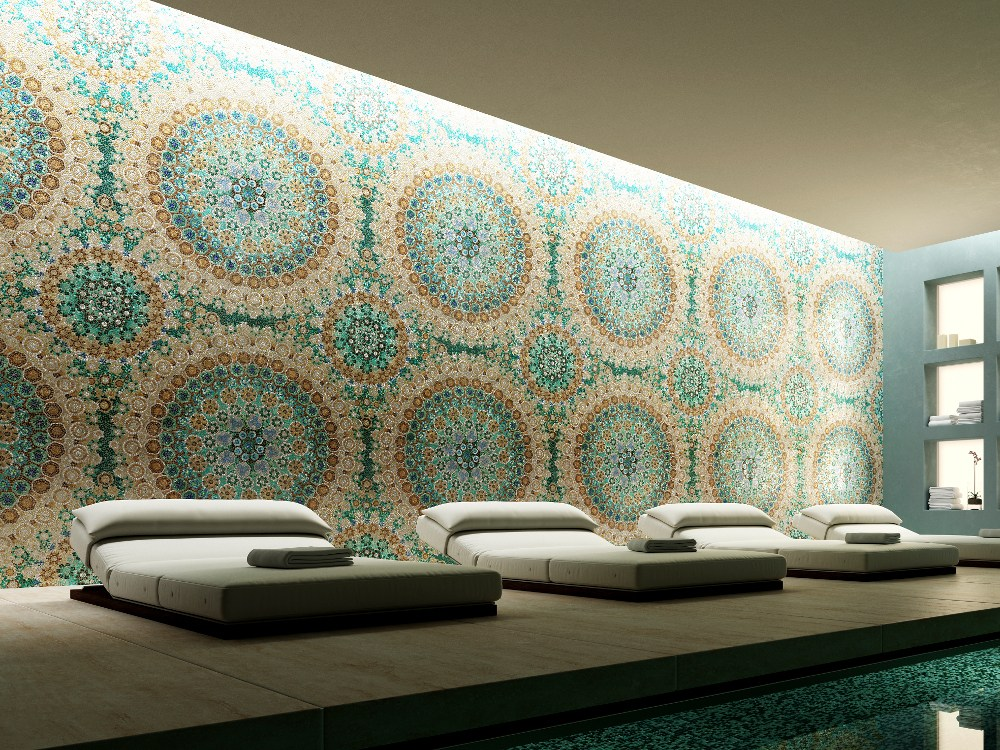 Mosaico in vetro murrine by trend for Mosaico group