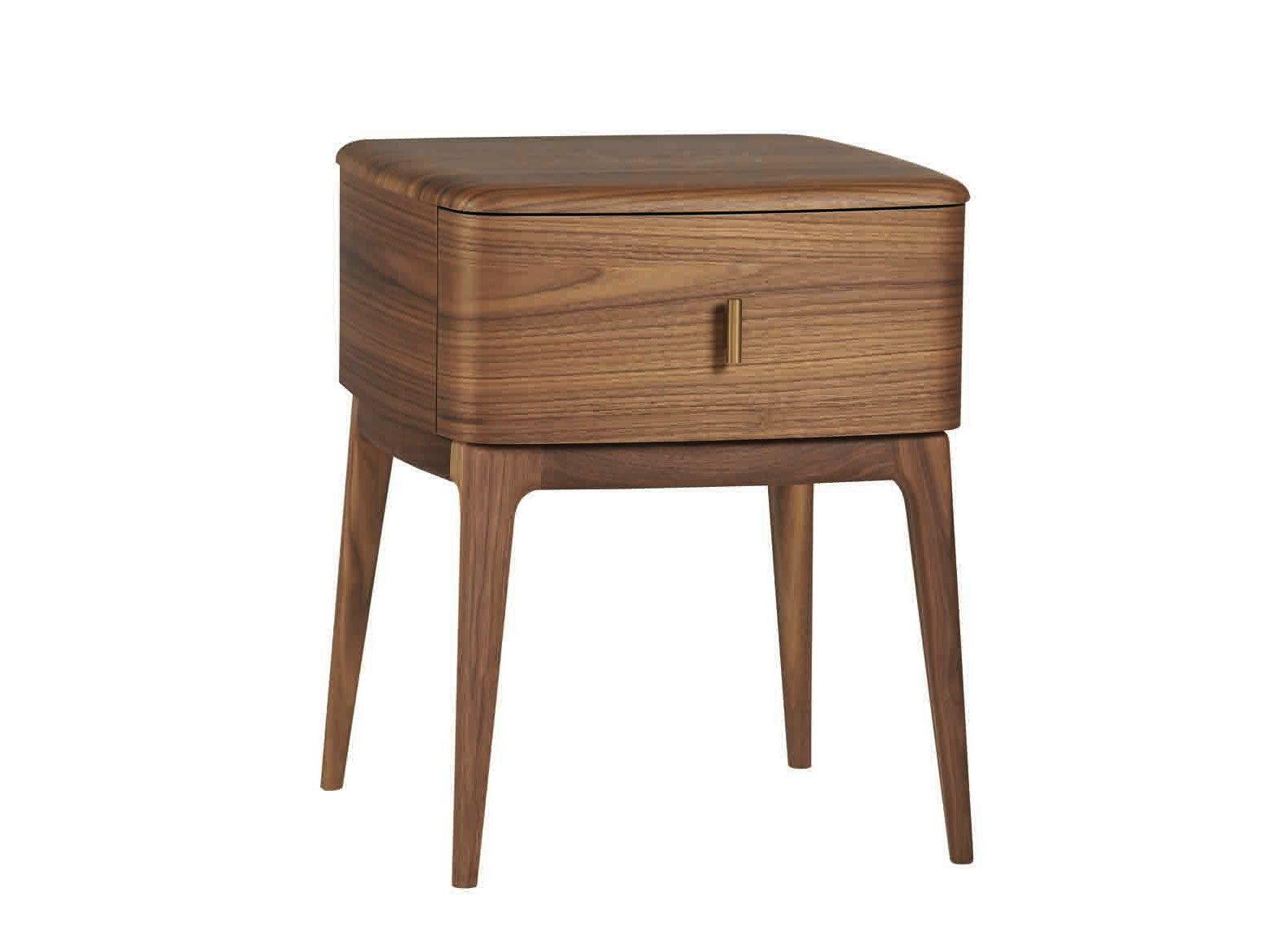 Nachttisch Walnuss nachttisch aus walnuss mit schubladen 51 by gervasoni design