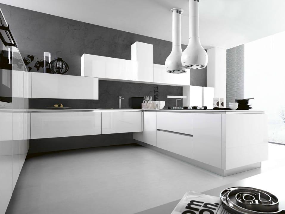 Emejing Cuisine Mur Blanc Et Gris Pictures - lalawgroup.us ...