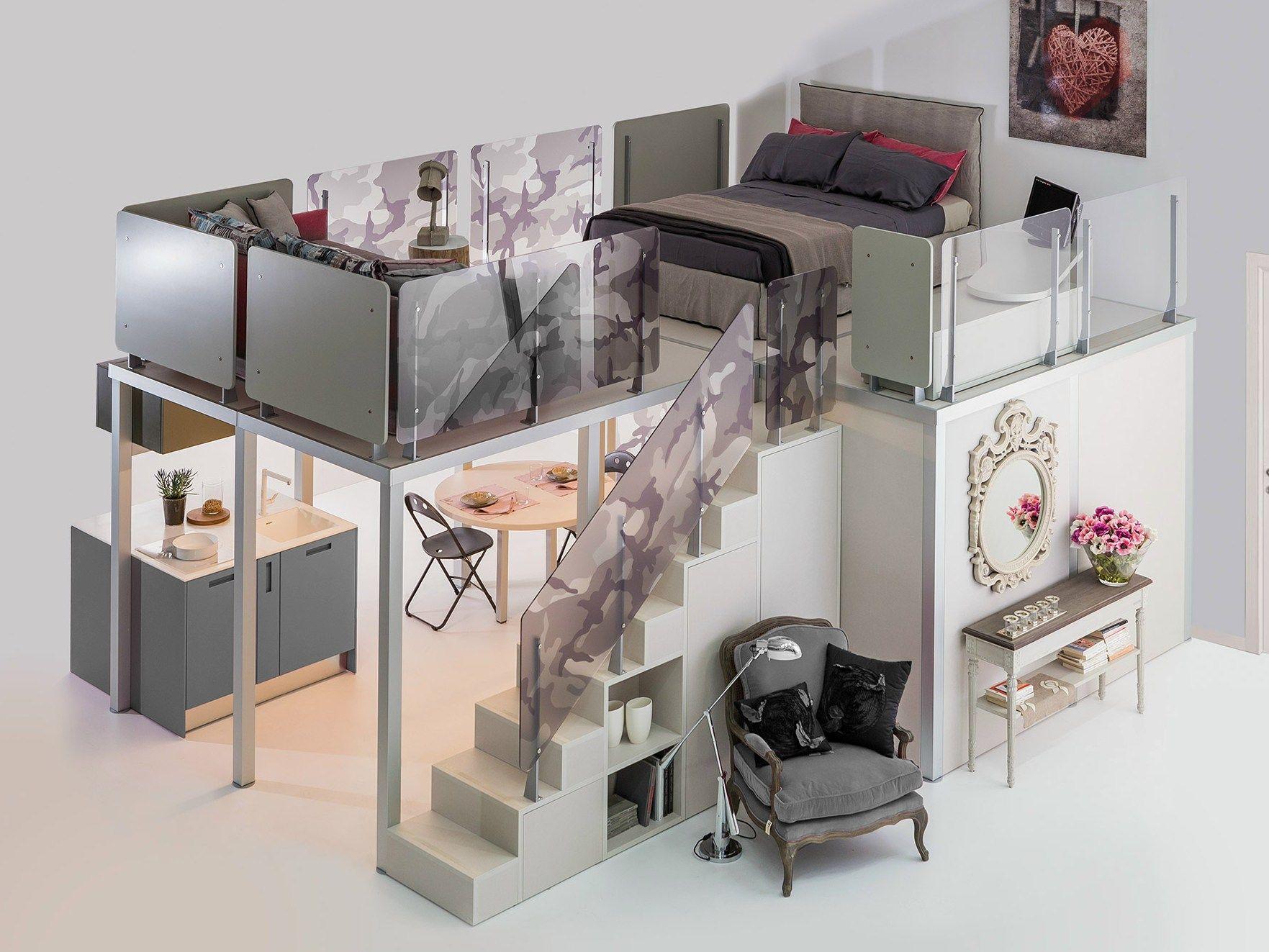 Sectional furnishing systems primopiano PRIMOPIANO By TUMIDEI design  Marelli e Molteni