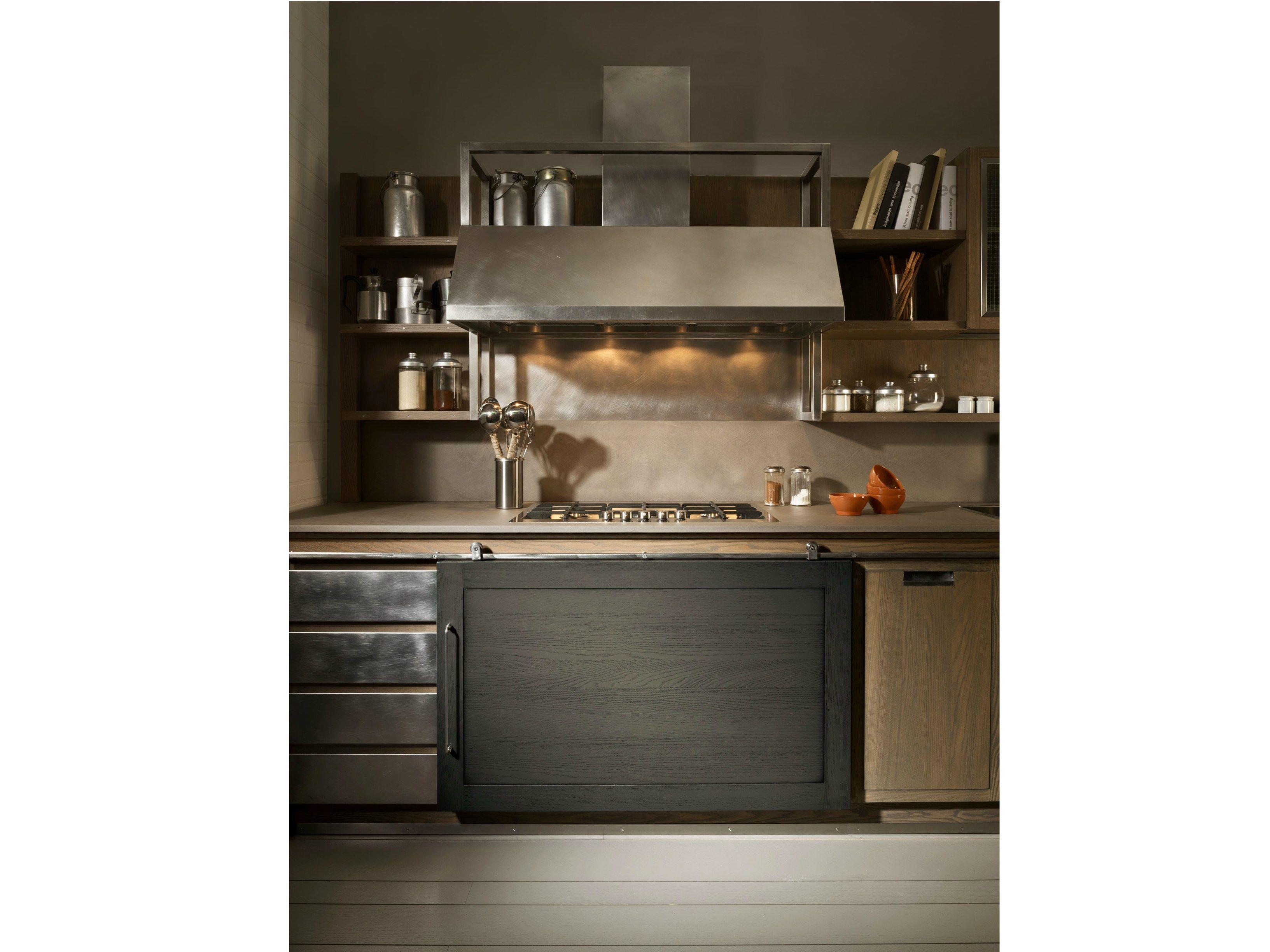 Industrial chic cucina con isola by l 39 ottocento - L ottocento mobili ...