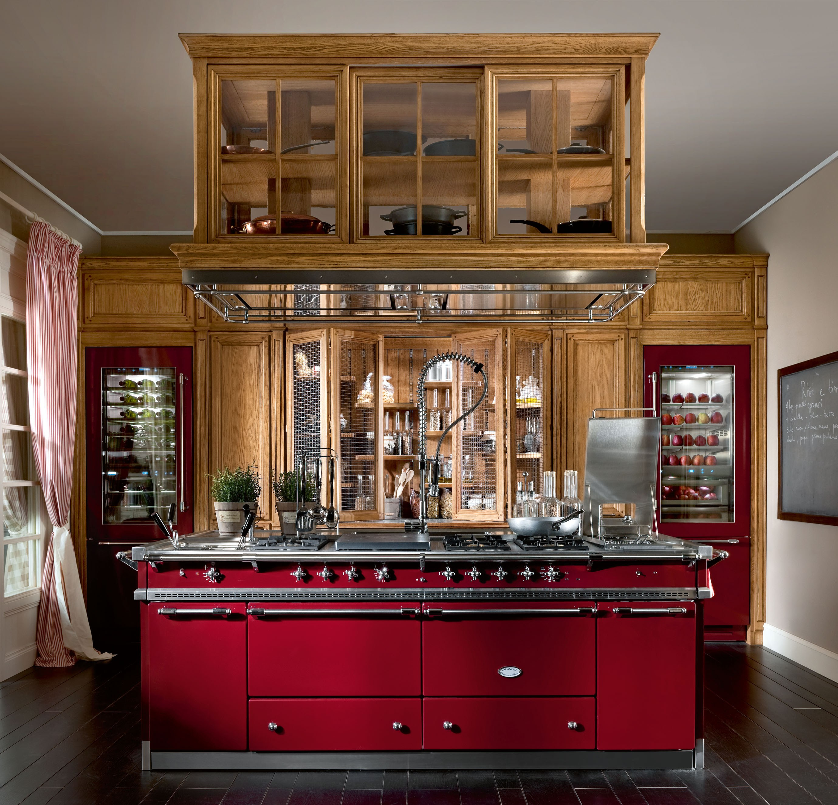 Cucina componibile con isola monterey by l 39 ottocento - L ottocento mobili ...