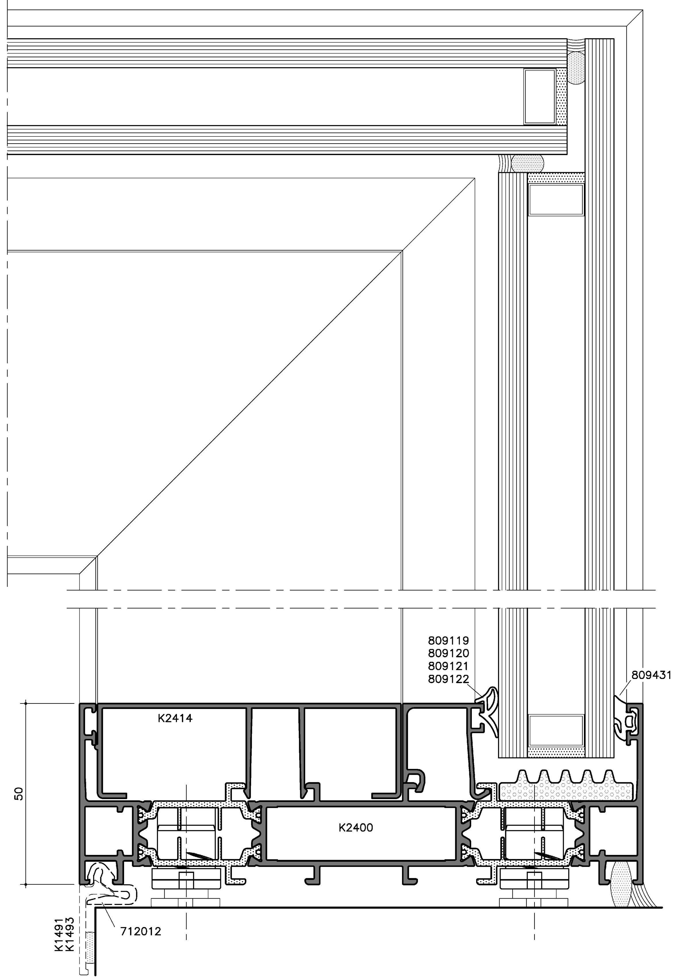 Sc156tt finestra alzante scorrevole by aluk group - Finestre scorrevoli pianta ...