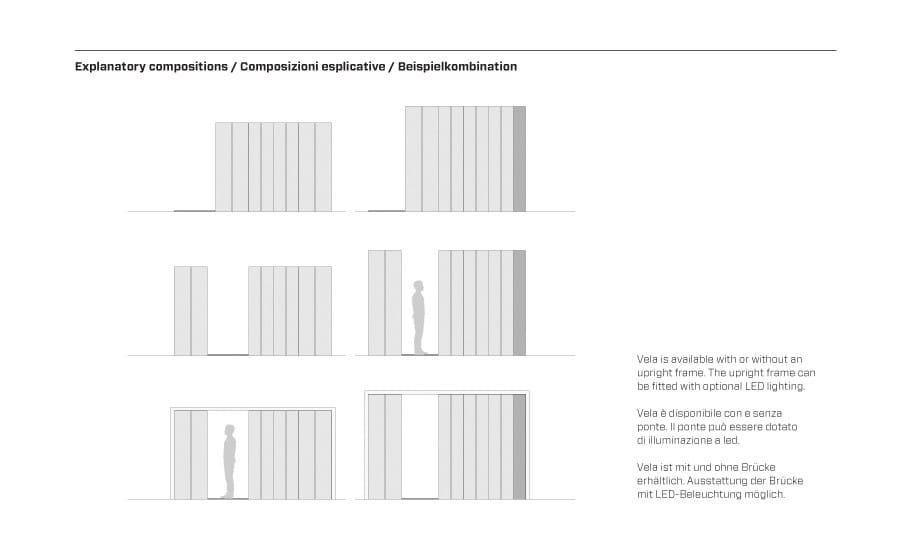 mobile ufficio / armadio compattabile su binari vela by fantin ... - Mobile Ingresso Vela