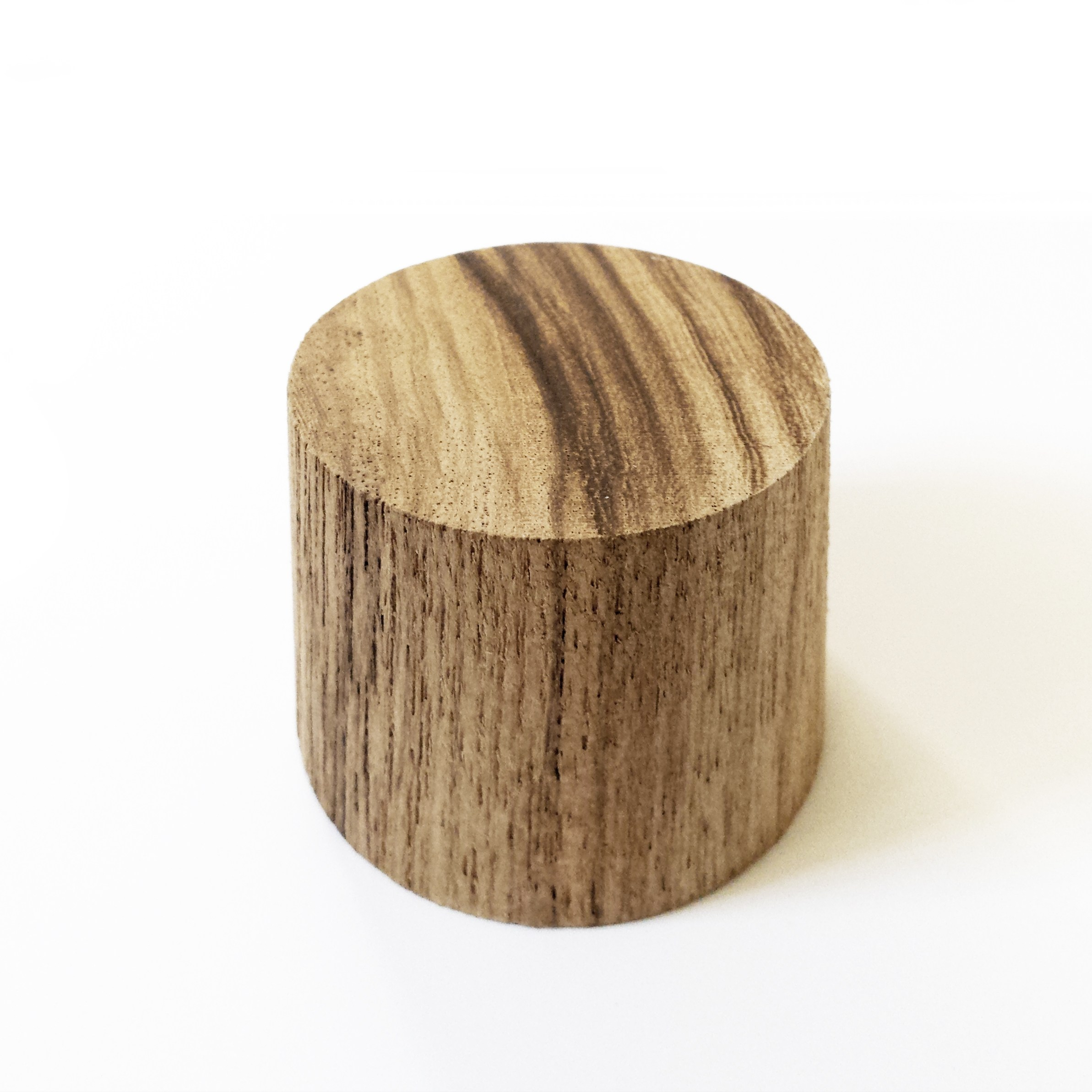Cilindro di legno massello teka