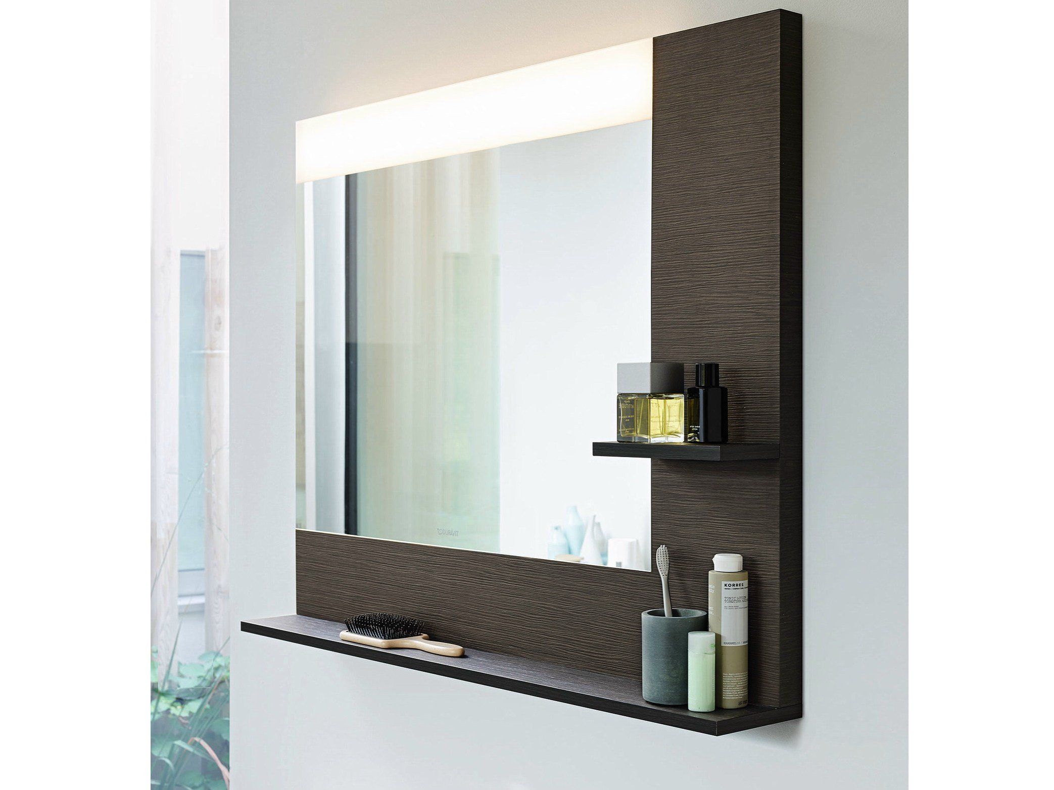Vero mirror with integrated lighting by duravit design for Duravit salle de bain