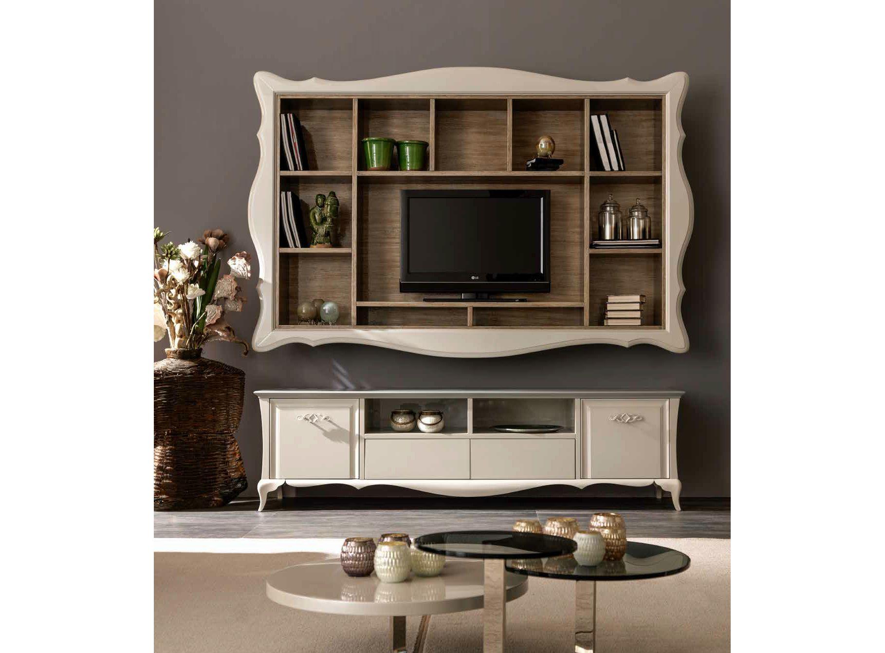 Alice mueble modular de pared con soporte para tv by cortezari - Porta dvd da parete ...