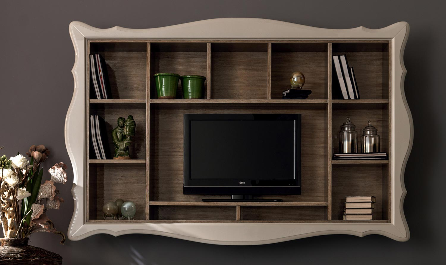alice mueble modular de pared con soporte para tv by
