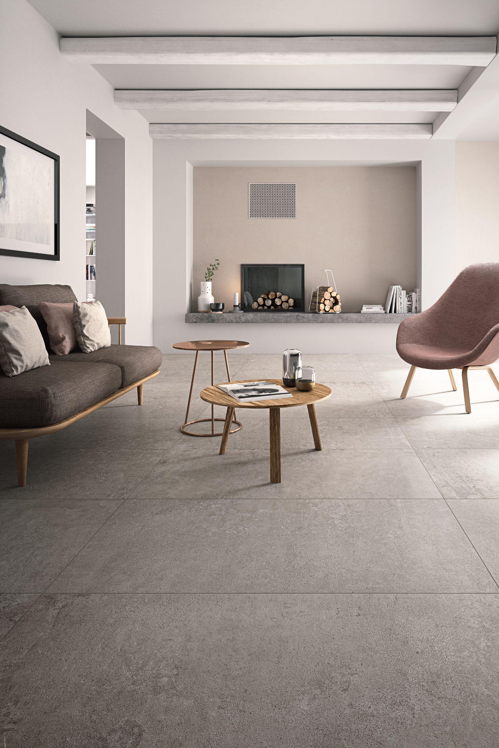 Pavimento rivestimento in gres porcellanato effetto cemento x beton by cotto d 39 este - Abbinare pavimento e mobili ...
