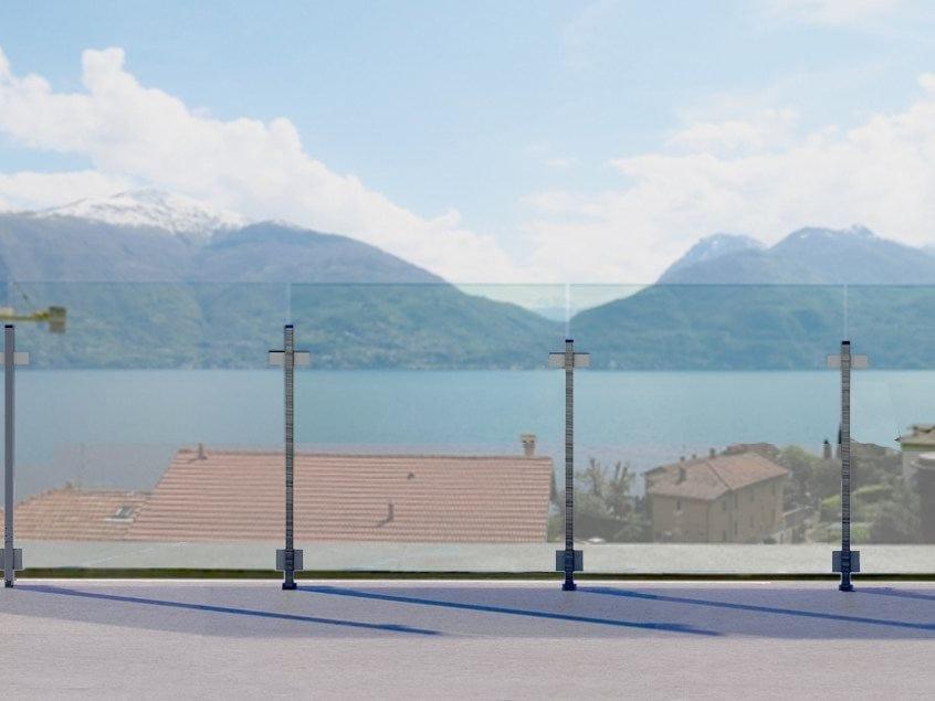 Garde corps en aluminium et verre pour terrasse balcon for Paravent exterieur pour balcon