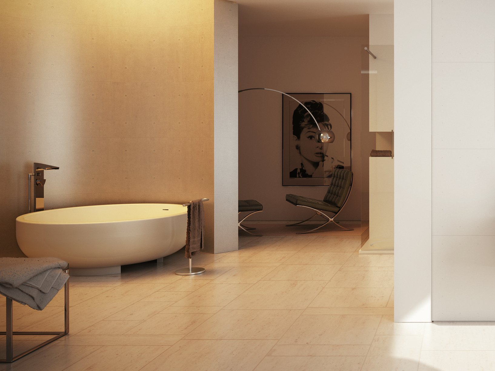 Vasca da bagno rotonda GOLD TUB by DIMASI BATHROOM by Archiplast