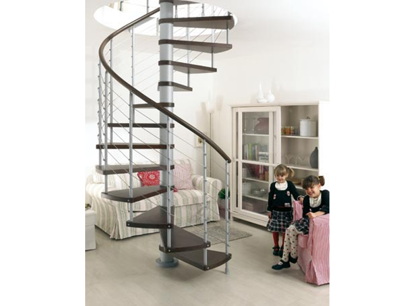 spiral staircase in kit form kloe 39 by fontanot. Black Bedroom Furniture Sets. Home Design Ideas