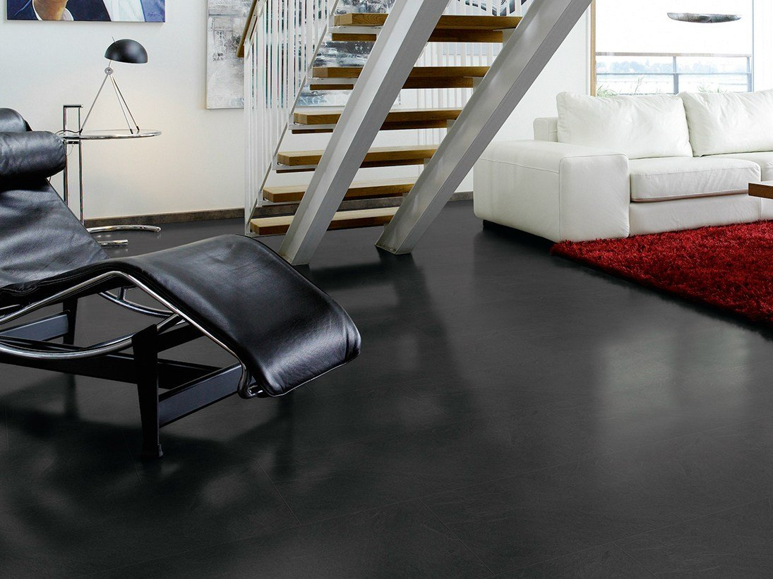 Laminate Flooring With Stone Effect Medium Grey Slate By Pergo