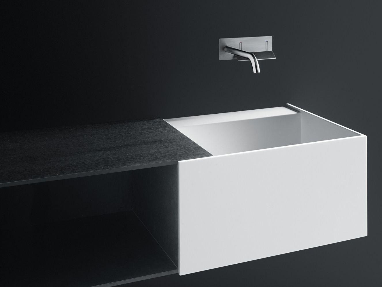 lavabo doppio sospeso in corian® duec by boffi design victor vasilev - Arredo Bagno Boffi