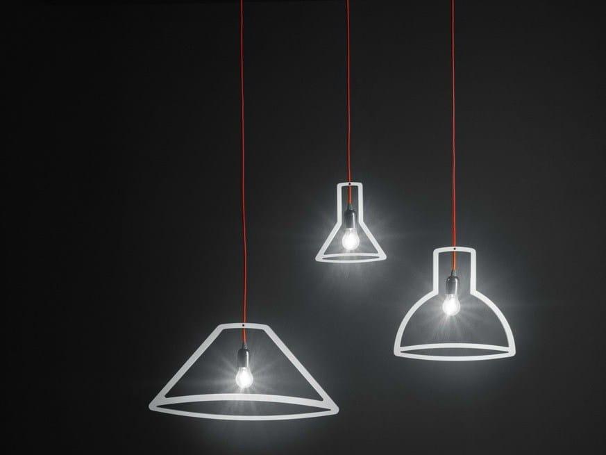 Direct light pendant lamp outliner by boffi design martin for Lampade bagno design