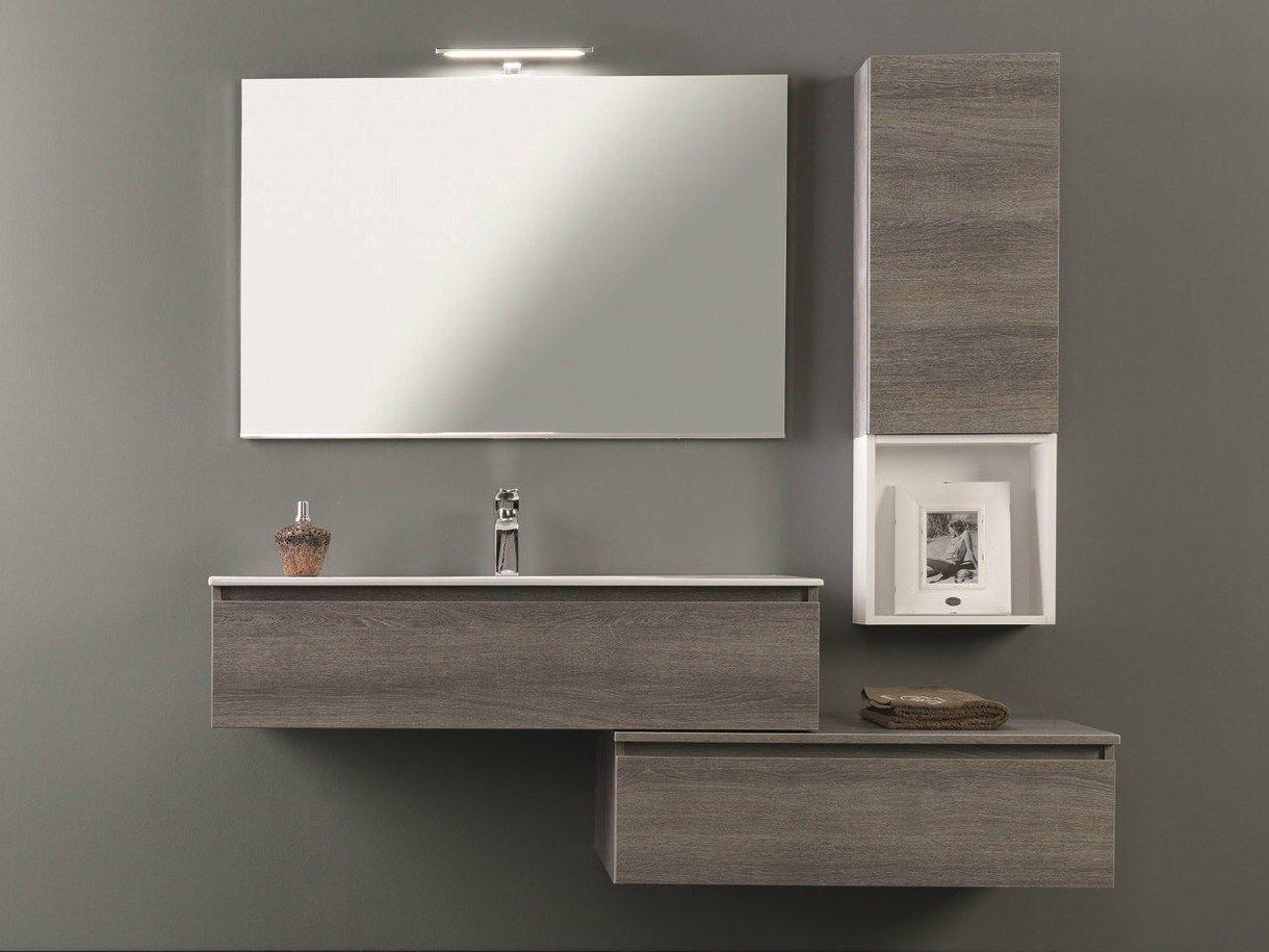 mobile lavabo laccato con cassetti hd.01 by mobiltesino - Mobiltesino Arredo Bagno