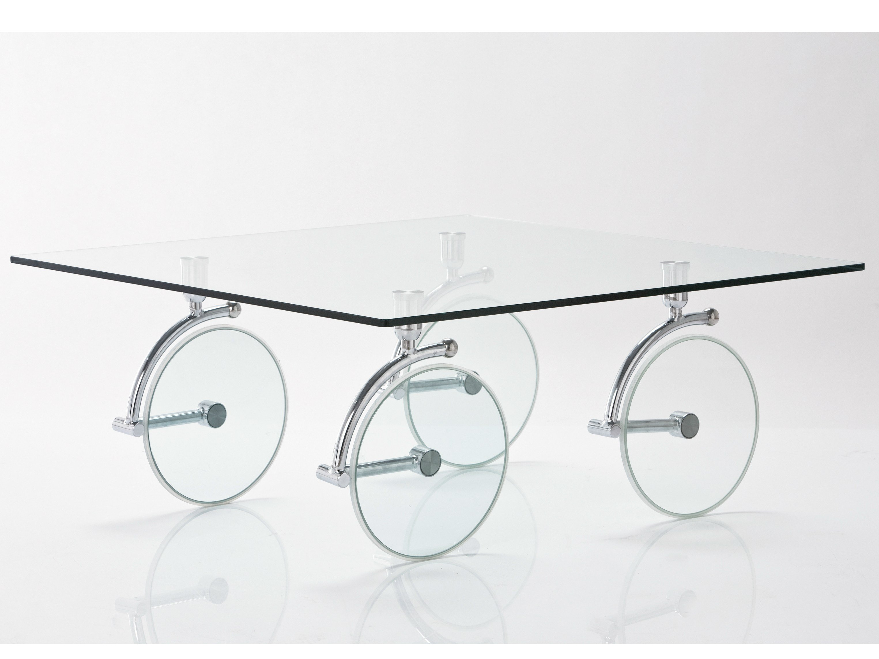 Rectangular glass coffee table CLEAR CLUB BASIC By KARE DESIGN