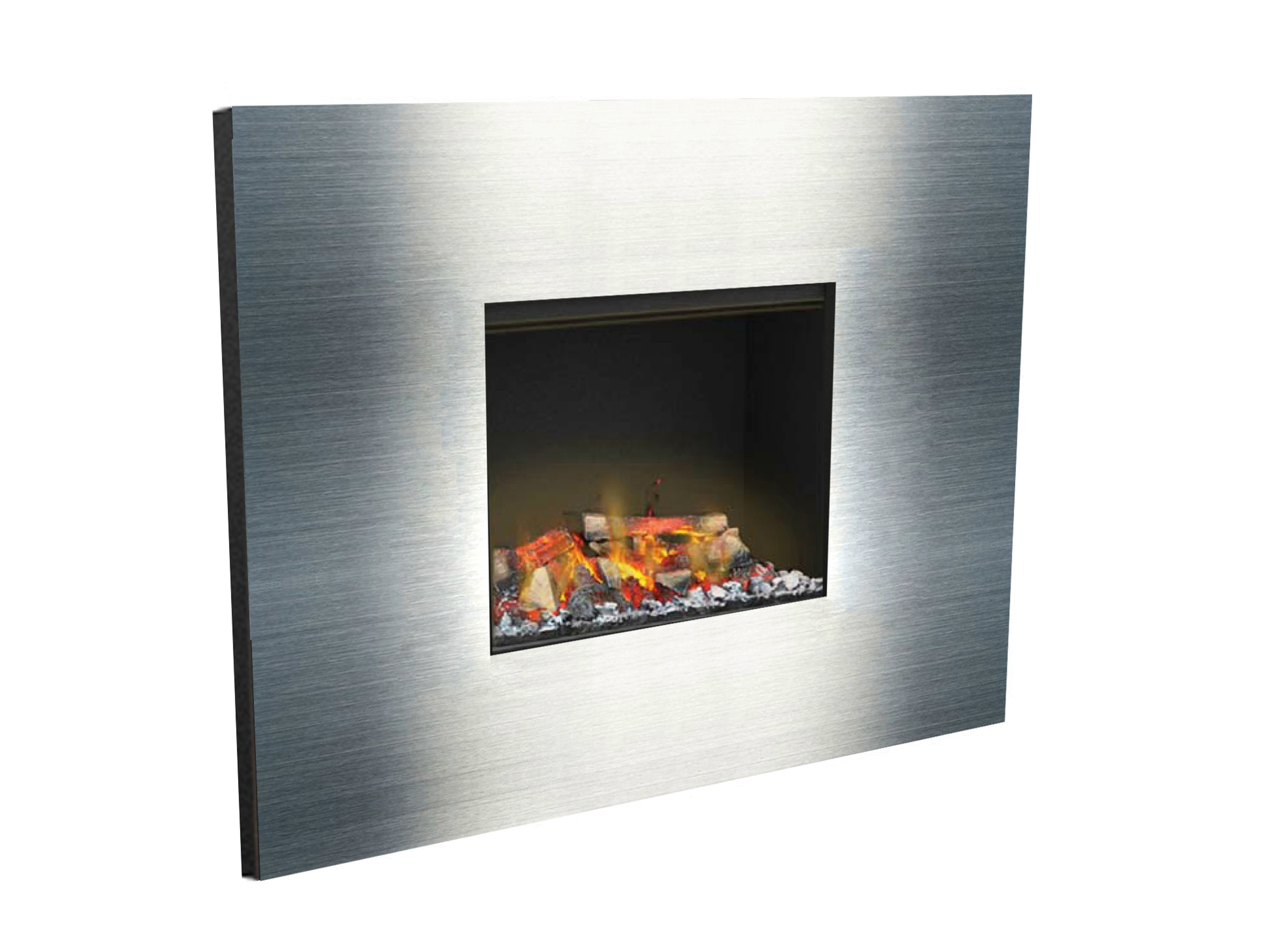 electric built in fireplace with remote control kit glamm 3d l by