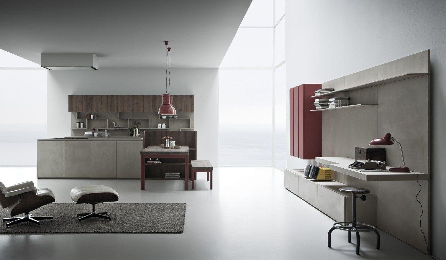 LINE K | Parete attrezzata By Zampieri Cucine design Stefano Cavazzana