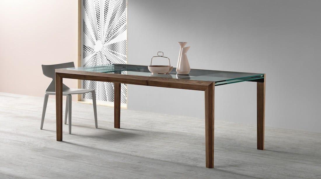 Tavoli Di Vetro E Legno : Tavoli in vetro e legno allungabili higrelays