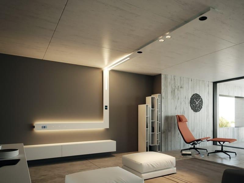 Segment profilo per illuminazione lineare per faretti by - Luce soffitto bagno ...