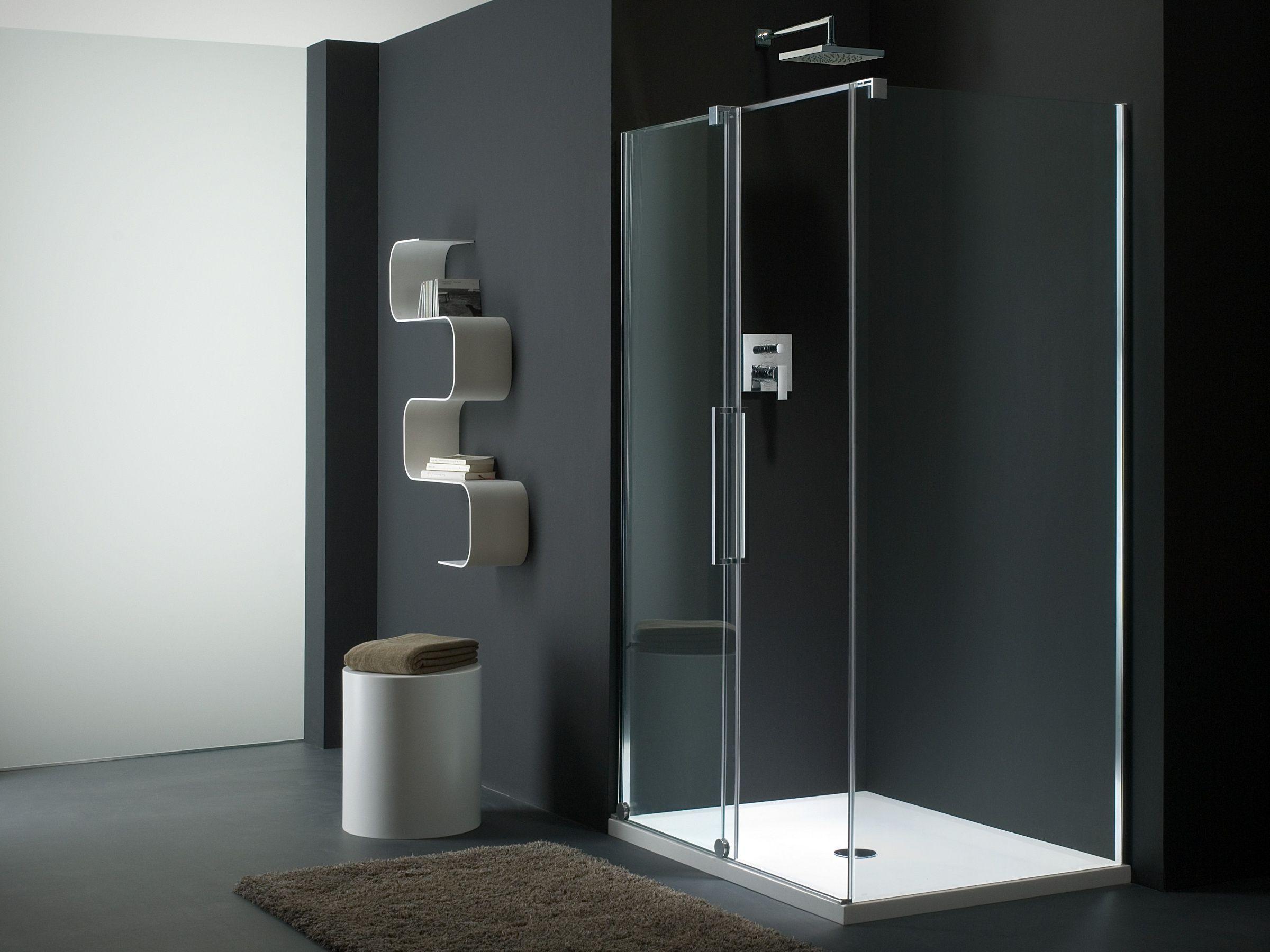 Box doccia in vetro con porte scorrevoli S-LITE SN + SW by Provex Industrie design Talocci Design