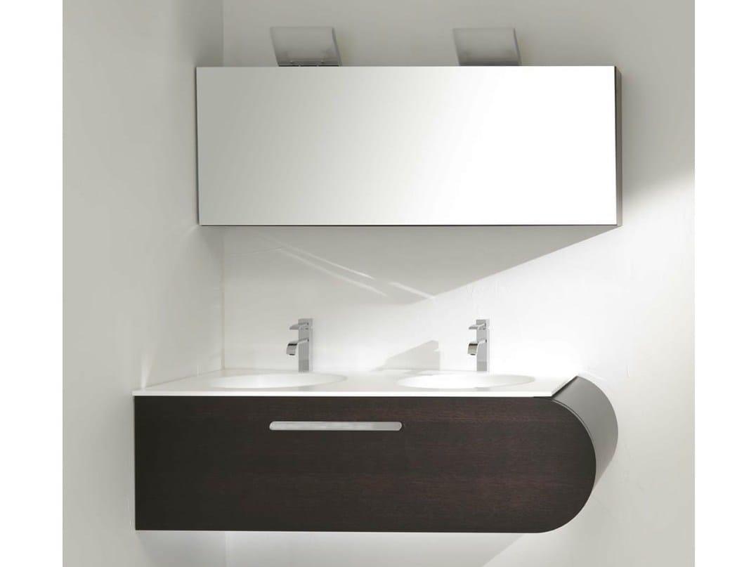 meuble sous vasque d 39 angle double avec tiroirs flux us 5 by lasa idea design enio calosi. Black Bedroom Furniture Sets. Home Design Ideas