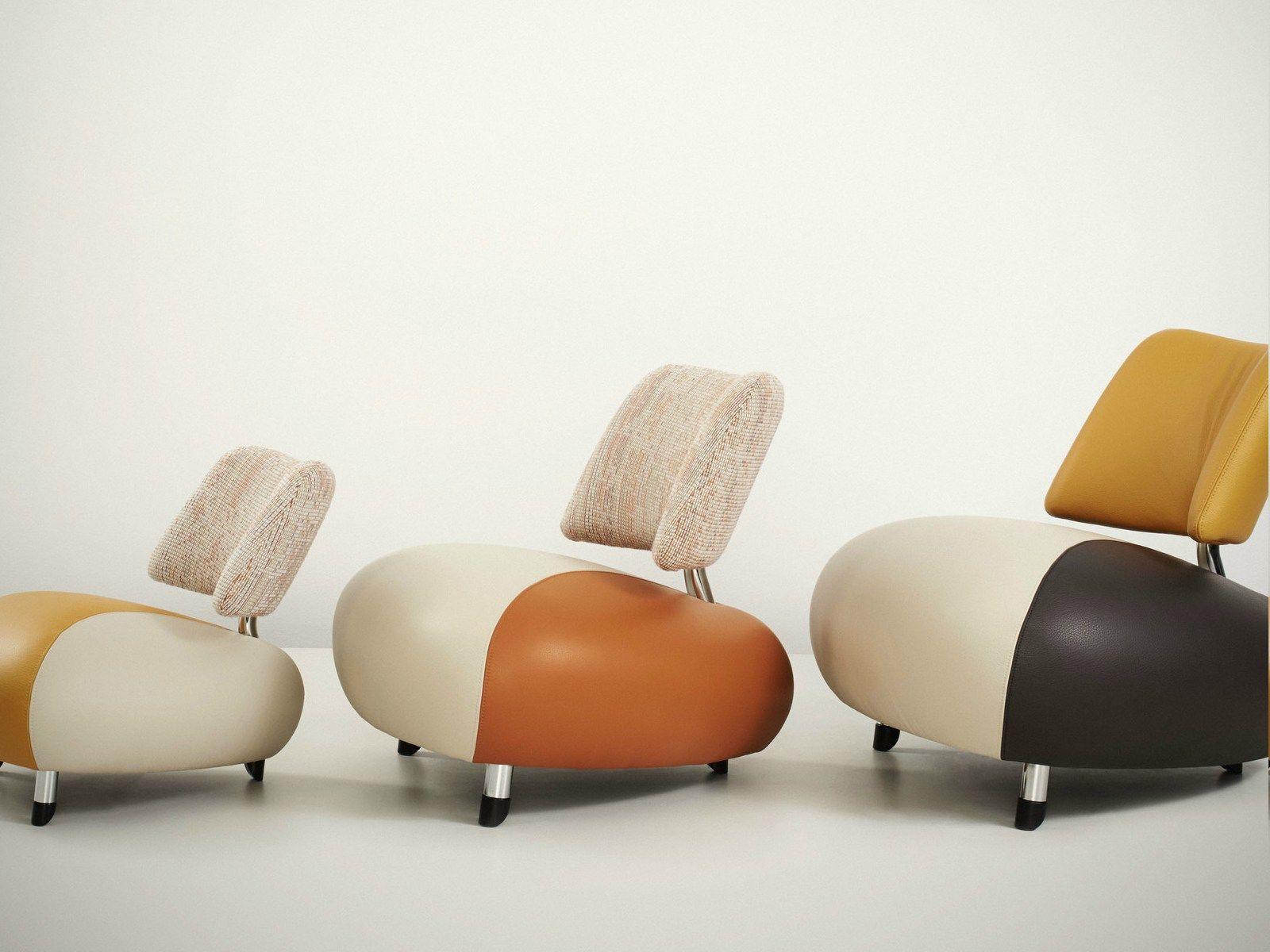 Leather Armchair PALLONE By LEOLUX Design Pierre Mazairac, Karel  Boonzaaijer, Roy De Scheemaker