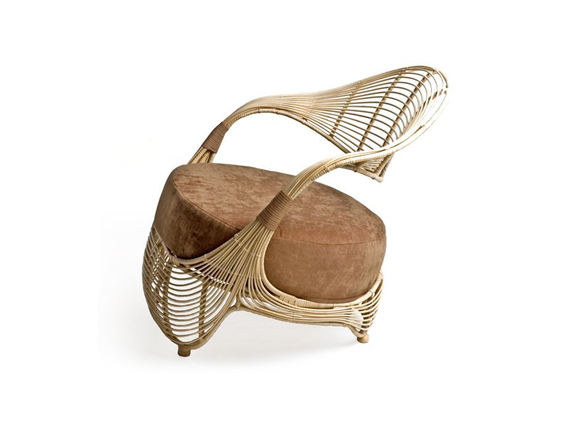 MANOLO Fauteuil De Jardin By KENNETH COBONPUE Design Kenneth Cobonpue - Fauteuil club rotin
