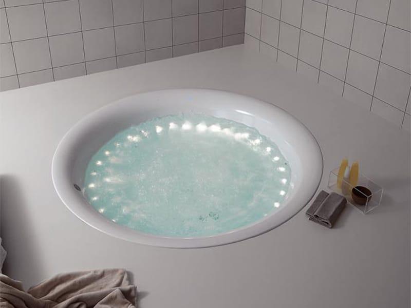 Vasca da bagno rotonda in metacrilato GEO 180 by Kos by Zucchetti design Ludovica+Roberto Palomba