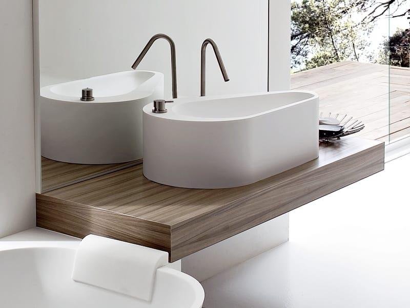 Mensola lavabo appoggio – Boiserie in ceramica per bagno