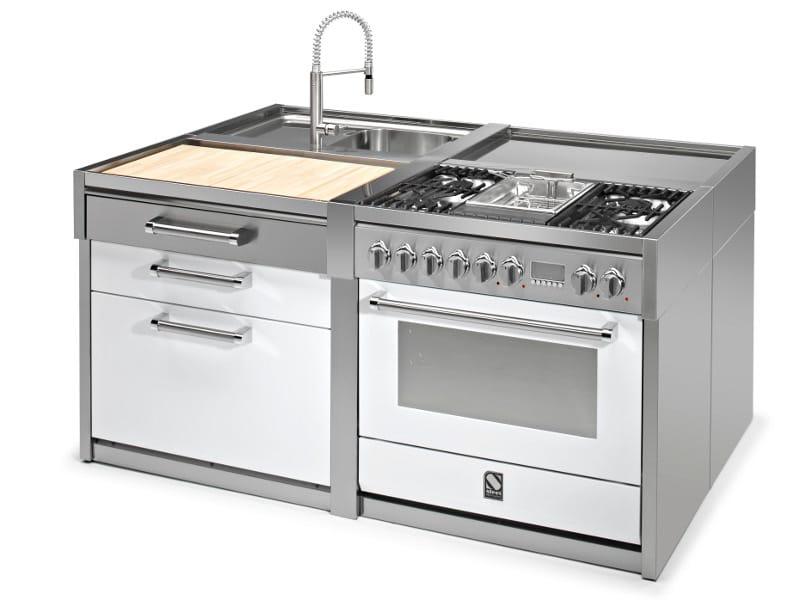 Genesi modulo cucina freestanding by steel - Blocco cucina acciaio ...