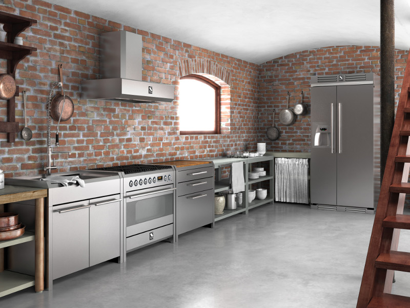 SINTESI | Cucina in acciaio inox By Steel