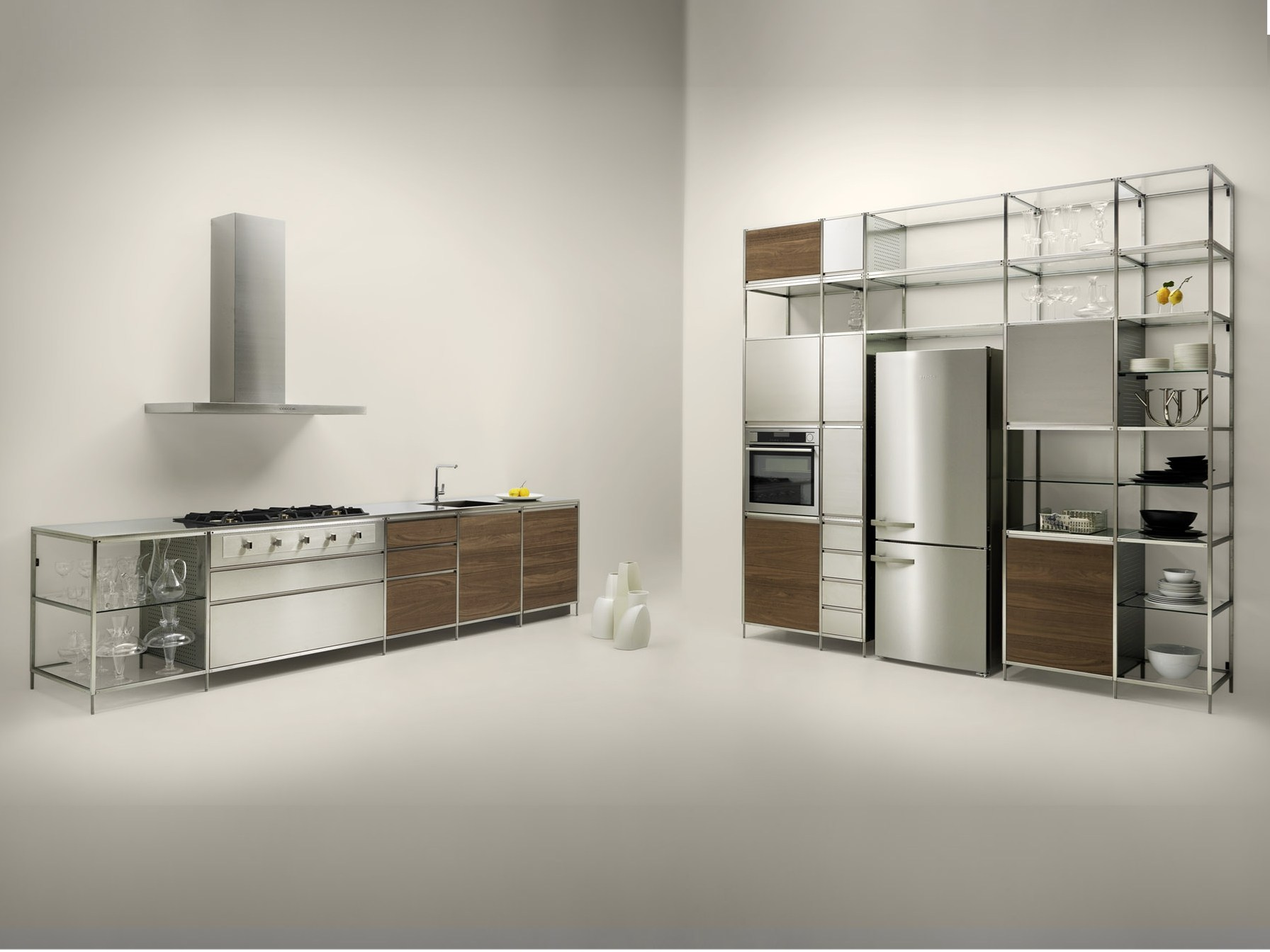 Metal kitchen meccanica by valcucine design gabriele centazzo for Valcucine prezzi