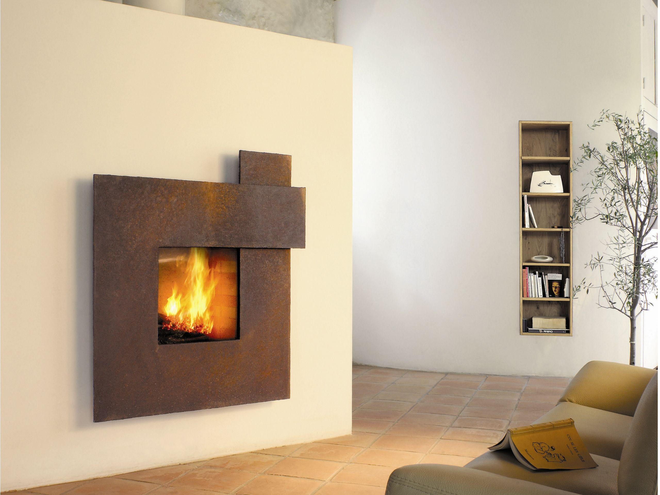 rivestimento per camini in acciaio m tafocus 1 by focus creation design dominique imbert. Black Bedroom Furniture Sets. Home Design Ideas