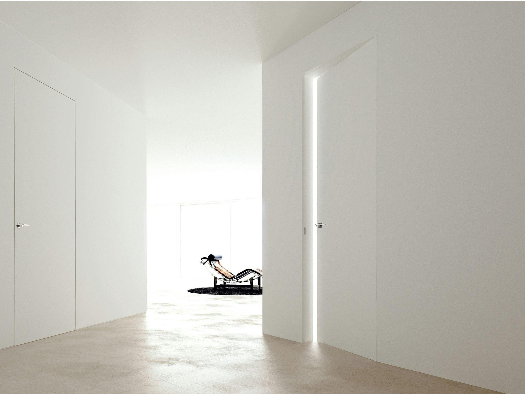 Porta a filo muro linear zero by ghizzi benatti - Porta a muro ...