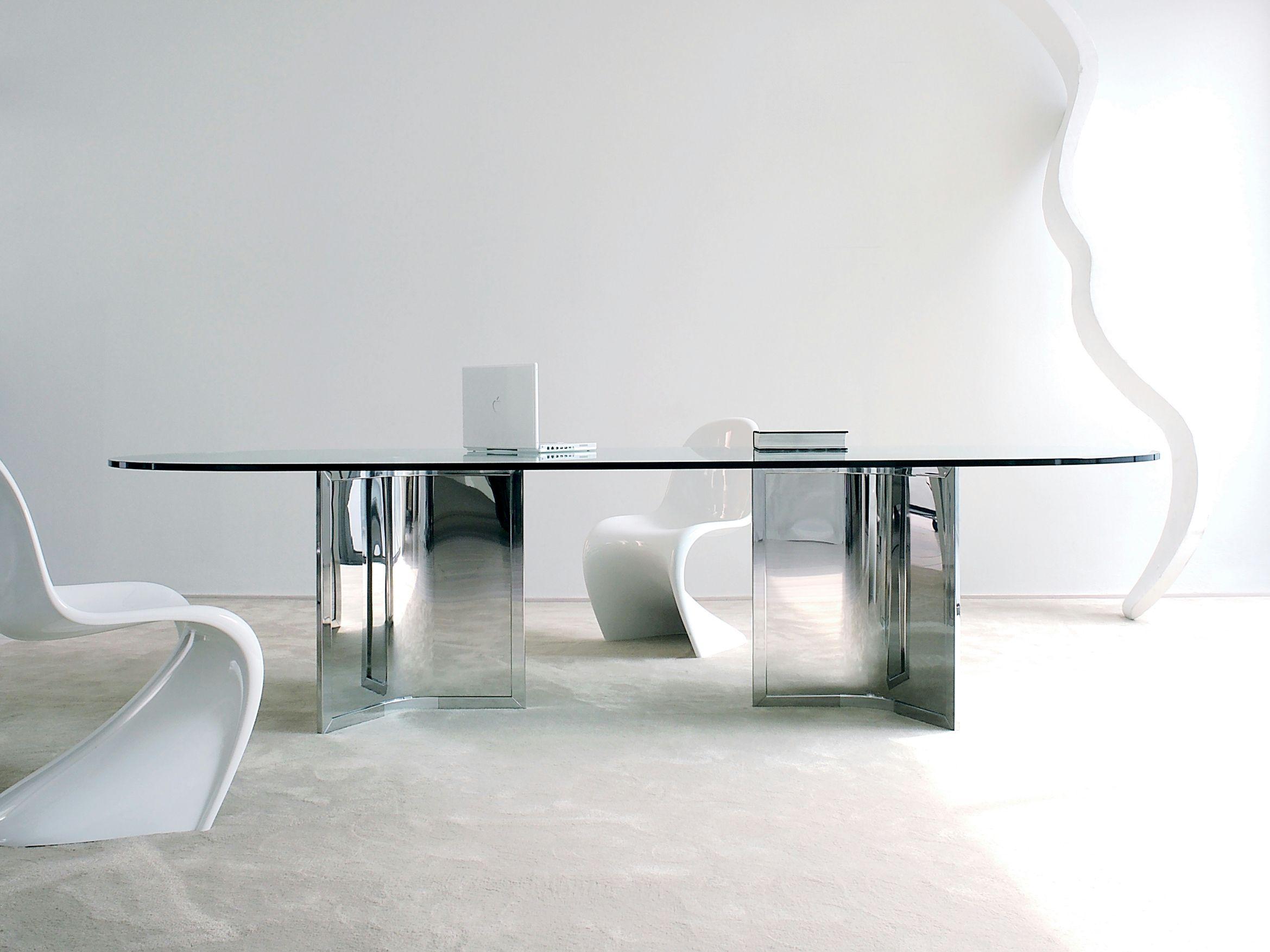 Tavolo da pranzo rettangolare in cristallo PLATIUM By ...